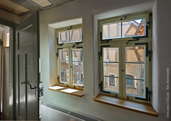 Our windows are invidually rebuilt after the one original that is still intact from 1728.