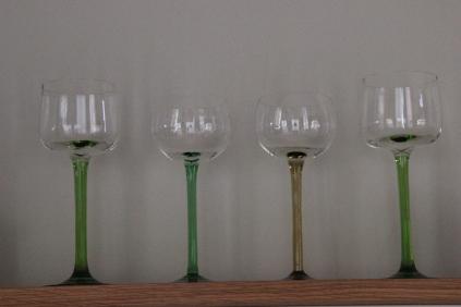 Historische Weißweingläser