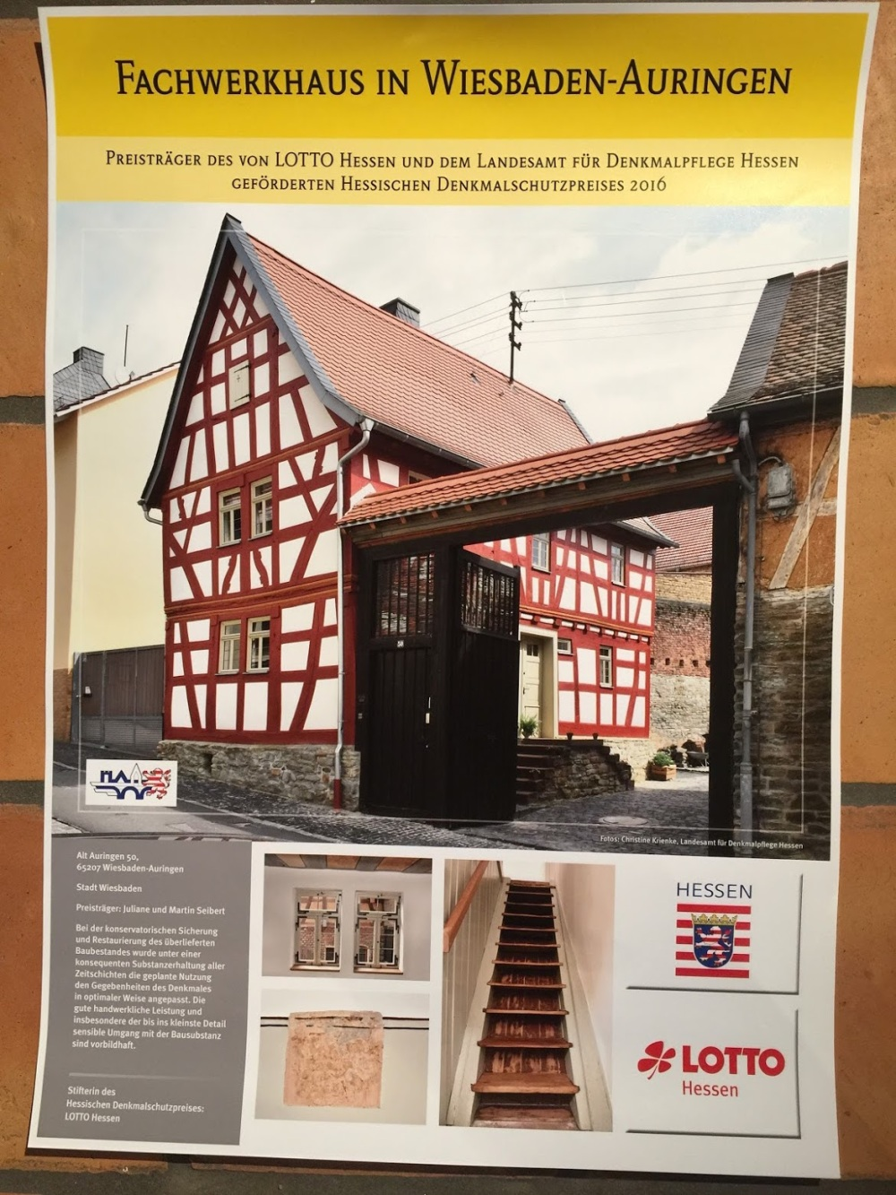 Award Poster about our project in Wiesbaden-Auringen